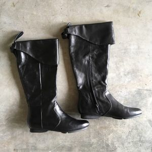 Shoes - Me Too below knee leather boot size 7 worn once